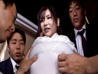 Yummy Japanese MILF Anri pussy pounded in a nasty gangbang