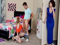 Lucy Tyler teaches teen couple to fuck
