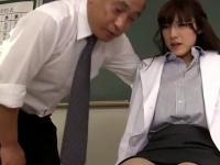 Japanische Gesicht Sperma tropft