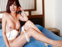 Beautiful Asian ladyboy Ping masturbates her lovely she dick