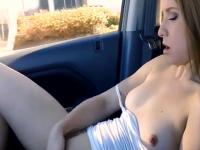Really sexy gf is masturbating in my car