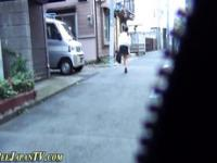 Asian whore caught peeing