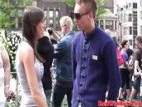 Dutch hookers tight ass gets cumshot