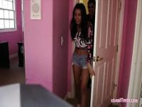 Cute teen Josie Jagger nailed on camera