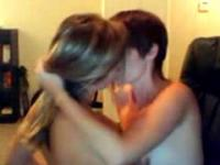 Two cute teens kissing, fingering and licking on webcam