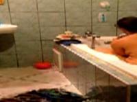 Spion-Vid meiner 42 Jahre alten Duschen Mama