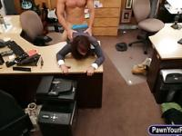 Huge boobs milf fucked at the panwshop