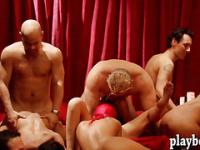 Bunch of swingers massive group sex
