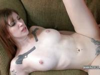 Tattoo covered slut Indigo Augustine is getting pounded by a guy she just met