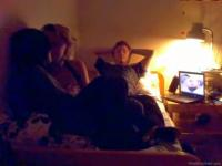 Teen threesome with bisexual babes