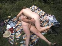 Dilettante aged pair outdoor fucking