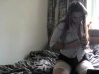 Hot dutch legal age teenager solo