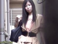 Furry asians pee outside