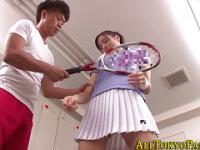 Kleine asiatische Teen gefickt