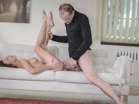 Pretty Tracy gets wet pussy fuck with some monster cock