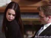 Amateur mormon ho jizzed