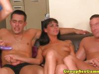 European sweet babes facialized at an orgy