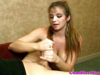 Young cumcovered teen with awesome big boobs