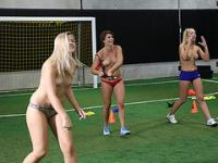 A dodgeball game filled with hot naughty coeds with random fuck