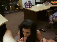 Latin chick sells her TV and banged hard