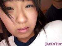Petite japanese babe gets nipples rubbed