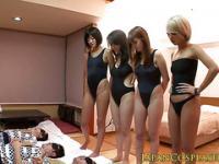 Japanese cosplay babe oral forplay before bang