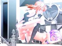 Zwei Shemales 3d animierte heißen stossen und Cumming