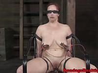 Pathetic sub gets electrosex treatment