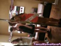 Amateur teens dancing