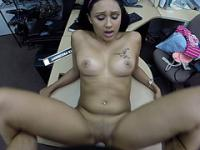 Sexy hot babe got fucked for cash
