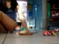 Food And Pussy Playing Awesome Crazy Teen On Webca
