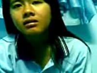 Malay School Teen In Uniform Stripping Nshowing Of