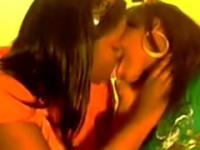 2 Hot Ebony Lesbian Girls Making Out