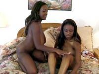 Lesbian Ebony Trio