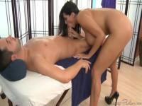 Awesome beautiful blowjob from the brunette girl
