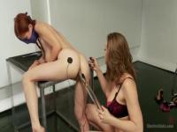 Electric shocks and huge dildo in the ass for dirty Penny