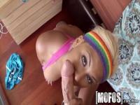 Pretty blonde girl Desiree Lopez fucking good