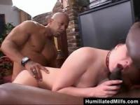 Hardcore threesome interracial