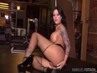 Tarra White is practicing her stripping