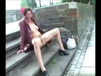 Naked whore on the London streets