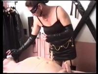 Humiliated man is whipped and spanked