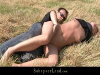 The poor slave babe is banged outdoors