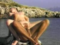 Ehrfürchtig Geschlecht im Wasser