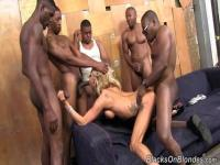 Zoey Portland in an anal, interracial gang bang