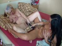 Old and young lesbians playing