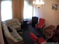 Spy cam in a dirty couple living room