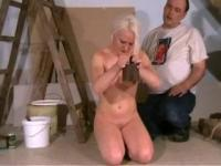 Young slave humiliated in a painting atelier