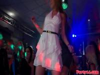 Babes dancing naked at a wild sex party