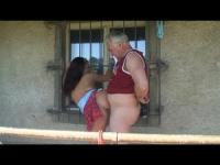 Sexy babe gets fucked by a granny