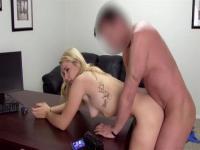 Amateur Hazel slurps while swallowing a huge boner